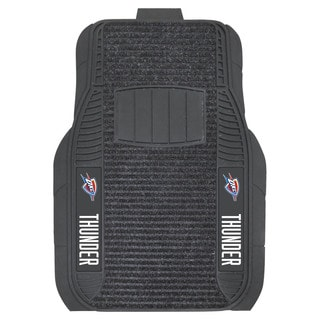 Fanmats Oklahoma City Thunder Charcoal Vinyl Deluxe Car Mat Set