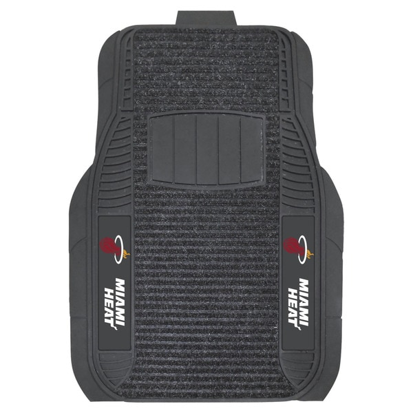 Fanmats Miami Heat Charcoal Vinyl Deluxe Car Mat Set