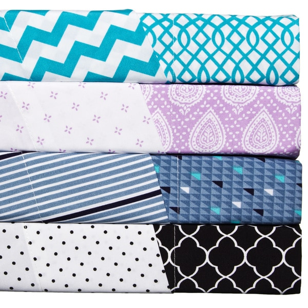 'Mitch and Max' Polyester Reversible Print Sheet Set