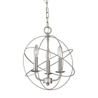 Cornerstone Williamsport 3 Light Chandelier In Brushed Nickel
