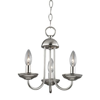 Cornerstone Williamsport 3 Light Mini Chandelier In Brushed Nickel