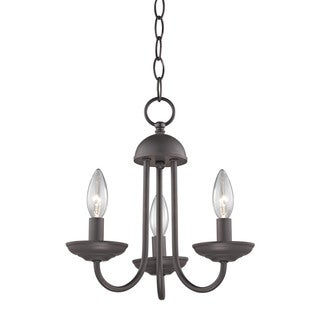 Cornerstone Williamsport 3 Light Mini Chandelier In Oil Rubbed Bronze