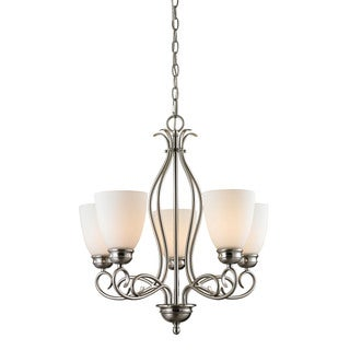 Cornerstone Chatham 5 Light Chandelier In Brushed Nickel