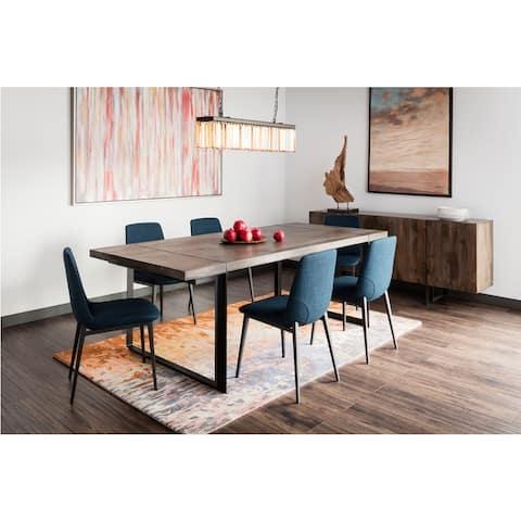Aurelle Home Sofia Modern Blue Dining Chair (Set of 2)