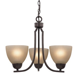 Cornerstone Kingston 3 Light Chandelier In Oil Rubbed Bronze