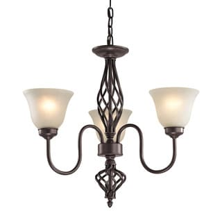 Cornerstone Santa Fe 3 Light Chandelier In Oil Rubbed Bronze