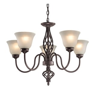 Cornerstone Santa Fe 5 Light Chandelier In Oil Rubbed Bronze
