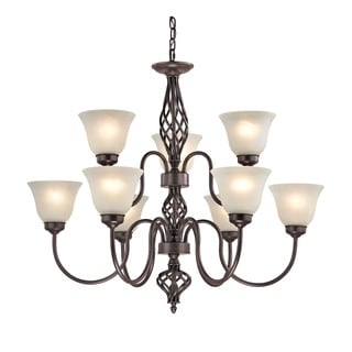 Cornerstone Santa Fe 6+3 Light Chandelier In Oil Rubbed Bronze