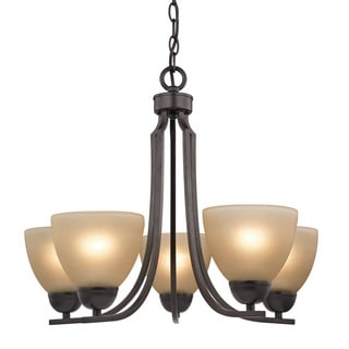 Cornerstone Kingston 5 Light Chandelier In Oil Rubbed Bronze