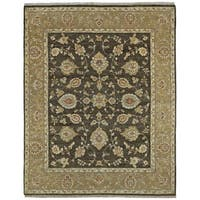 Hand Knotted Royal Signature Charcoal Windsor Wool Rug (8' x 10')