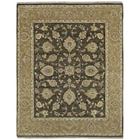 Hand Knotted Royal Signature Charcoal Windsor Wool Rug - 8' x 10'