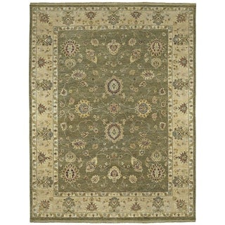"""Hand Knotted Royal Signature Olive Ganesh Wool Rug (8'0"""" x 10'0"""")"""
