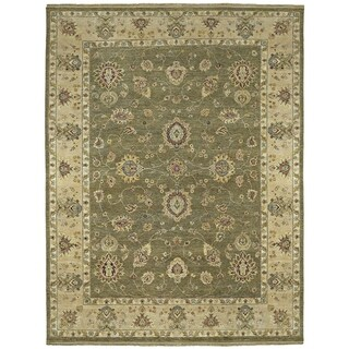 Hand Knotted Royal Signature Olive Ganesh Wool Rug (8' x 10')