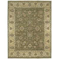 Hand Knotted Royal Signature Olive Ganesh Wool Rug (9' x 12')