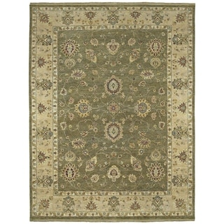 """Hand-Knotted Royal Signature Olive Ganesh Wool Rug (6'0"""" x 9'0"""")"""