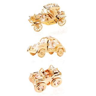 Matashi 24K Gold Plated Collectible Vehicles Ornament Package with Genuine Matashi Crystals|https://ak1.ostkcdn.com/images/products/10248676/P17367365.jpg?impolicy=medium