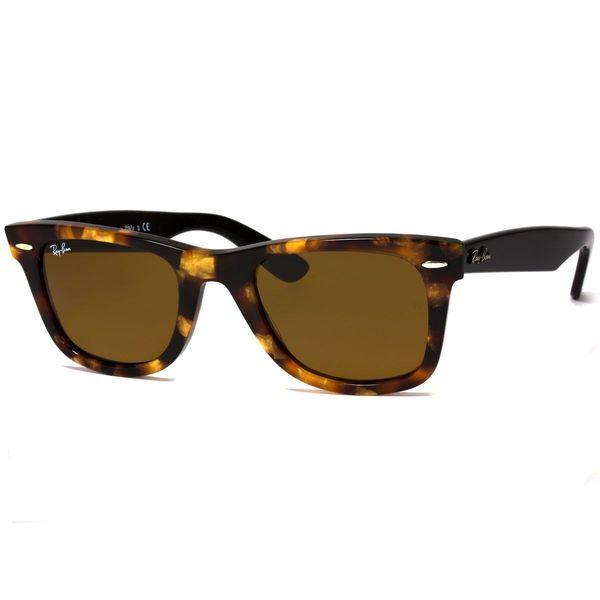 Ray-Ban RB2140 Wayfarer Unisex Spotted Havana Frame Black Lens Sunglasses