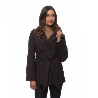 Happy Rainy Days Women's Double-breasted Notched Lapel Short Trench Coat (More options available)
