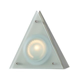 Cornerstone Aurora 1 Light Wedge Disc Light In Stainless Steel