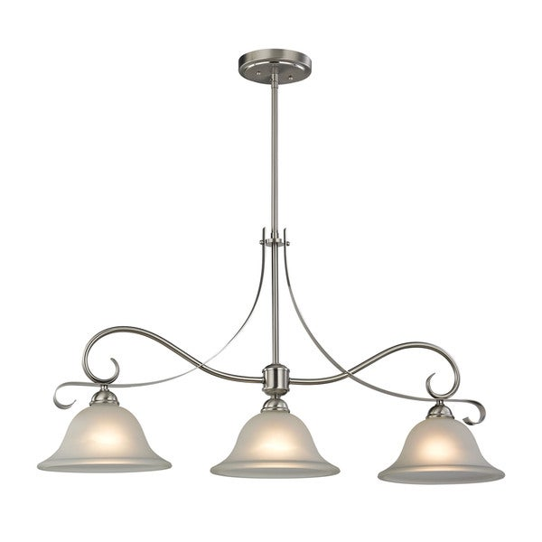 Cornerstone Brighton 3 Light Island In Brushed Nickel  sc 1 st  Overstock.com & Cornerstone Brighton 3 Light Island In Brushed Nickel - Free ... azcodes.com