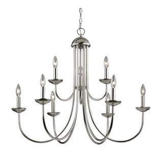 Cornerstone Williamsport 9 Light Chandelier In Brushed Nickel