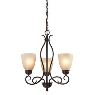 Cornerstone Chatham 3 Light Chandelier In Oil Rubbed Bronze