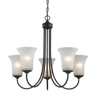Cornerstone Charleston 5 Light Chandelier In Oil Rubbed Bronze