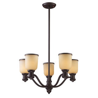 Cornerstone Brooksdale 5 Light Chandelier In Oil Bronze
