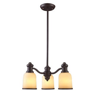 Cornerstone Brooksdale 3 Light Chandelier In Oil Bronze