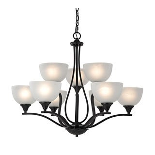 Cornerstone Bristol Lane 9 Light Chandelier In Oil Rubbed Bronze
