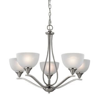 Cornerstone Bristol Lane 5 Light Chandelier In Brushed Nickel