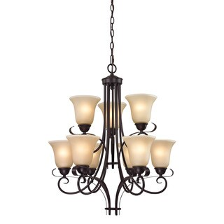 Cornerstone Brighton 9 Light Chandelier In Oil Rubbed Bronze