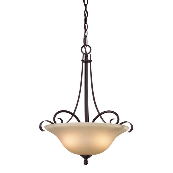 Cornerstone Brighton 3 Light Large Pendant In Oil Rubbed Bronze