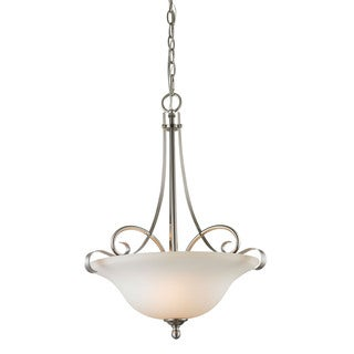 Cornerstone Brighton 2-Light Large Pendant In Brushed Nickel