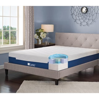 LANE 13-inch Twin XL-size Gel Memory Foam Mattress with bonus pillow