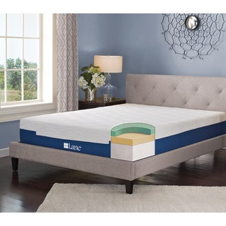 LANE 7-inch Twin-size Memory Foam Mattress with bonus pillow