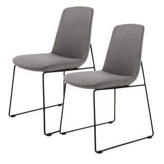 Aurelle Home Moren Grey Dining Chair(Set Of 2)