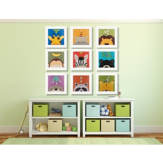 Peek-a-Boo Animals 9-Piece Framed Art Print Set