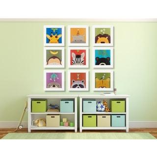 Peek-a-Boo Animals 9-Piece Framed Art Print Set