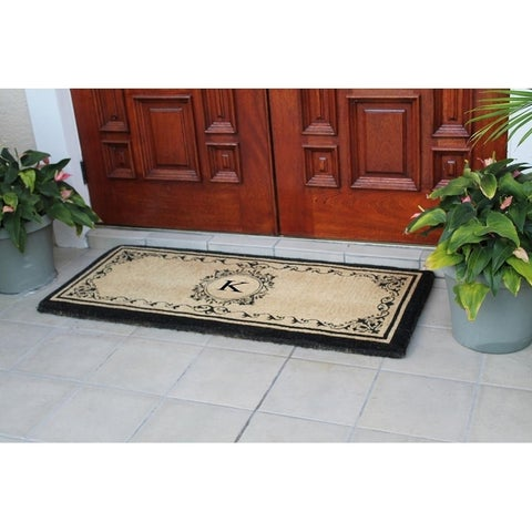 Coco Fibre Monogrammed Extra-thick Double Doormat (2' x 4'9)