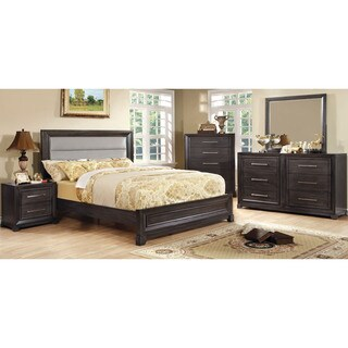 Furniture of America Stoneway Dark Grey 4-piece Bedroom Set