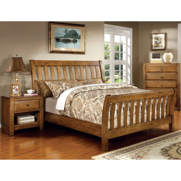 Furniture Of America Dimare Country Style 2 Piece Rustic Oak Bedroom Set Free Shipping Today