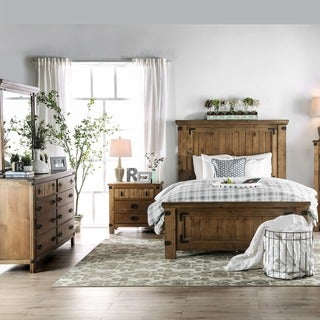 Furniture Of America Sierren Country Style 4 Piece Bedroom Set