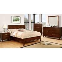 Carson Carrington Horten Modern 4-piece Brown Cherry Bedroom Set