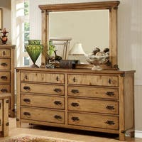 Pine Canopy Lobelia Country Style 2-piece Dresser and Mirror Set