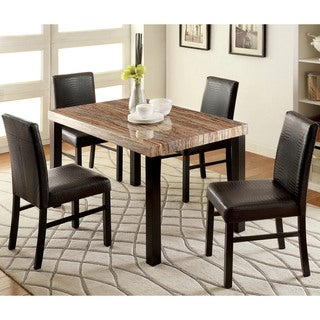 Furniture of America Dymen Contemporary Black 5-piece Dining Set