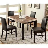 Furniture of America Dymen Contemporary Black 5-piece Dining Set