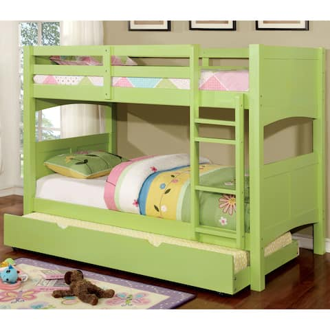 Colorpop Modern Twin 2-Piece Bunk Bed with Trundle Set by FOA