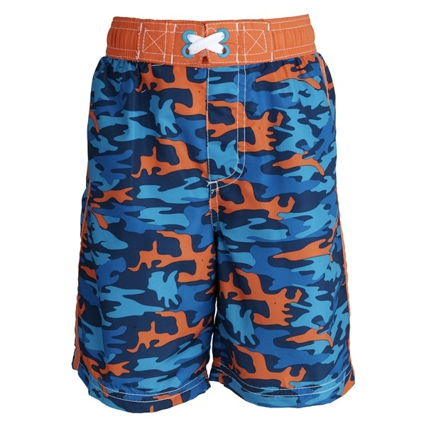f330b63ad Ixtreme Baby Boys' UV Protection Camo Printed Mesh Insert Swim Trunk