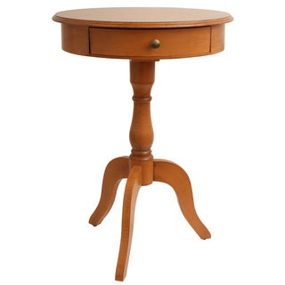 Simplify One Drawer Pedestal Table